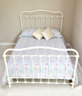 french antique iron and brass double bed