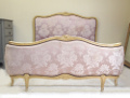 vintage French Louis XV style demi-corbeille bed