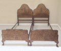 Pair of Vintage Heals of London Beds