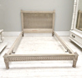 french antique cane large single lxvi bed