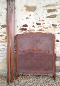 old french cane single bed