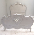 french antique rococo double bed