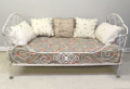 french antique iron folding daybed