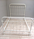 french antique 4ft iron bed