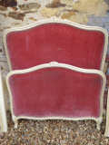 vintage french upholstered single bed
