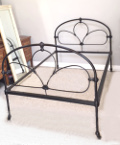 french antique iron 4ft bed