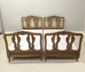 french antique pair of beds