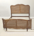 old french cane double bed