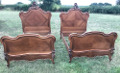 pair of french antique single beds