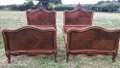 BEAUTIFUL PAIR OF FRENCH ANTIQUE CUSTOM SINGLE BEDS