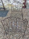 small french antique folding iron daybed