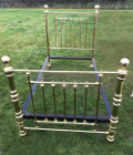 old solid brass bed