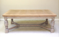 old french oak extending dining table