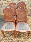 set of 6 cane back chairs