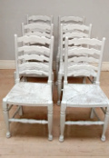 set of 6 ladder back chairs