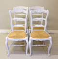 Set of 4 French Louis XV Style dining chairs