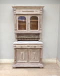 FRENCH ANTIQUE LIMED OAK BUFFET / DRESSER
