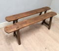 pair of old french benches
