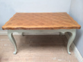 vintage french draw leaf table