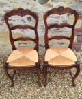 pari of louis xv dining chairs