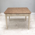 superb old french kitchen table - elm top