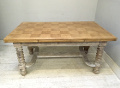 french antique large old dining table