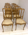 set of 8 cane seated chairs