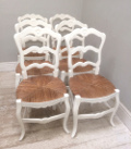 set of 6 old french chairs