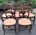set of 8 old french chairs