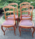 set of 4 old french chairs