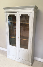 french antique glazed display / cupboard