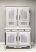 SUPERB LARGE 2 PIECE VINTAGE FRENCH LOUIS XV STYLE KITCHEN DRESSER