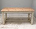 PINE TOP REFECORY SYTLE DINING TABLE