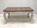 old french large extending dining table
