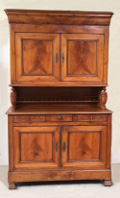 french antique buffet - flame cherrywood