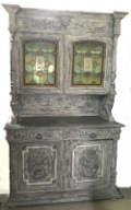 french antique glazed buffet base