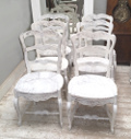 Old set o 6 French dining chairs
