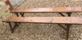 pair of old french farmhouse benches