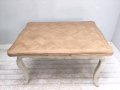 decorative old french draw leave dining table