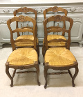 set of 4 old french dining chairs