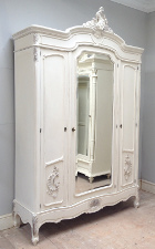 french antique triple armoire