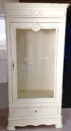 French antique Henri II style armoire / vitrine