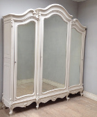 French antique rococo e door armoire