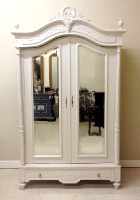 French antique double door armoire