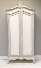 french antique rococo double door armoire