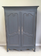 OLD FRENCH ARMOIRE / BASSETT