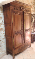 beautiful french antique Normandy Marriage armoire
