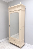 single door old French armoire