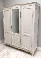 old french provencal style 3 door armoire