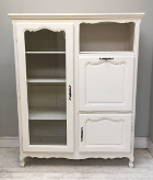 old French painted deisplay / cupboard